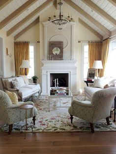 Incredible french country living room ideas (24) love the mantel