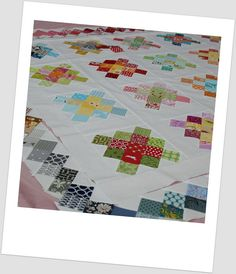 Granny Square quilt by so happy!, via Flickr