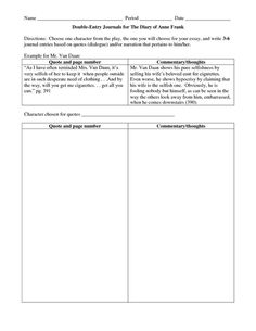 A digital version of a double-entry journal. You can use this on ...