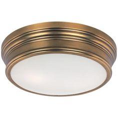 """Maxim Fairmont 13"""" Wide Aged Brass Ceiling Light"""