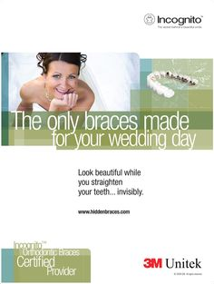 "Print ad for Unitek ""invisible"" braces, 2009 Types Of Braces, Invisible Braces, You Look Beautiful, Orthodontics, Print Ads, Teeth, Appliances, Accessories, Home Appliances"