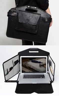 Stay productive from anywhere with this collapsible workstation briefcase.