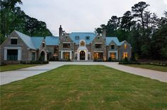 Normandy-style mansion in Atlanta. Designed by Harrison Design ...