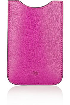 Mulberry|Textured-leather iPhone 4 sleeve|NET-A-PORTER.COM