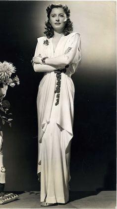 Barbara Stanwyck in Ball of Fire (1941, RKO). Designer: Edith Head.
