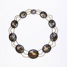 Italian Micro Mosaic Necklace en Esclavage   c.1810 Victoria & Albert Museum Collection