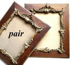 """Pair of Antique French Oak & Heavy Gesso, Gold Frames, Napoleon III, 22.5"""" x 18.5"""" Oak Picture Frames, Show White, Antique Frames, French Oak, How To Antique Wood, Victorian Era, Family Portraits, French Antiques"""