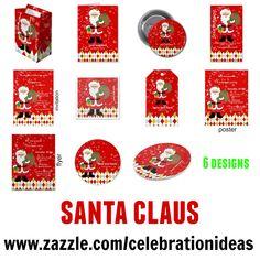 #christmas #xmas #santaclaus Detail at www.zazzle.com/celebrationideas/christmas