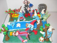 Plasticine Art - The Smurfs