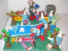 Plasticine Art - The Smurfs