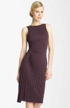 So lovely!  Halston Heritage Pleated Crepe Dress available at Nordstrom