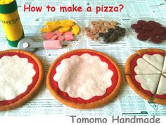 Pretend food -Felt food -play food How to make a Pepperoni,Hawaiian, and…