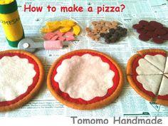 Felt food How to make a PepperoniHawaiian and by TomomoHandmade, $38.00