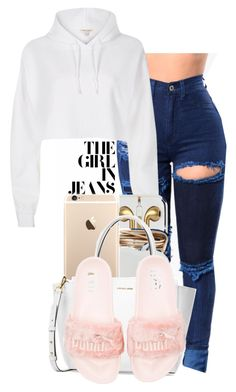 """""""#stylin"""" by reese123 ❤ liked on Polyvore featuring River Island, Michael Kors and Puma"""