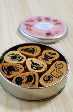 Sweet shop in a can Favorite stamp set by karaku on Etsy