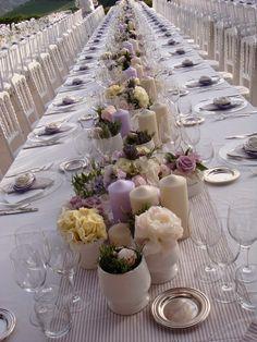 lavender, wedding in Italy Palco Di Nozze, Matrimonio In Italia, Pezzi  Centrali,