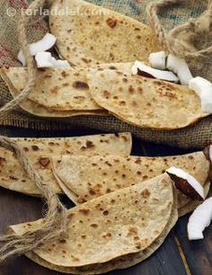 The delicate aroma and aesthetic flavour of nutmeg and cardamom make the Nariyal ki Meethi Roti a treat for your senses, while the crunch of roasted coconut makes it a pleasure to sink your teeth into this sweet roti! The traditional charm of coconut makes this Sweet Coconut Roti popular with all age groups.