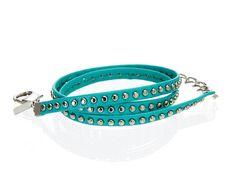Alexandra Beth Studded Leather Wrap Bracelet by