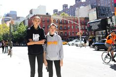 Molly Bair in an Undefeated hoodie and Stella Lucia in a Thrasher hoodie
