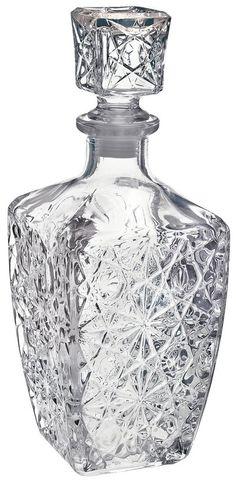 Bormioli Rocco Dedalo Glass Cut Spirit Decanter - 800ml (28oz): Amazon.co.uk: Kitchen & Home £12.99