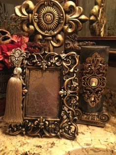 5 x 7 Decorative Embellished GOLD frame with by YourMajestyDecor