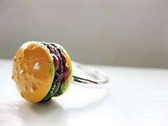 Express Your Love for Burgers with the Mary Rebecca Hamburger Ring #burgers trendhunter.com
