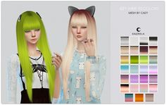Cazy's Izzy Recolors at Kalewa-a via Sims 4 Updates
