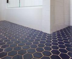 Fireclay Tile - Navy Blue Hex Tile