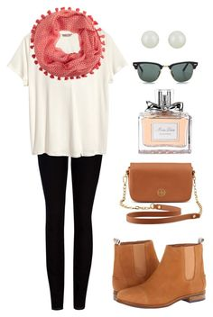 """Untitled #166"" by littlebitofeverything ❤ liked on Polyvore featuring Sperry, Ted Baker, Fallon, Tory Burch, H&M, J.Crew, Christian Dior and Ray-Ban"