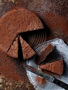 flourless cacao fudge cake