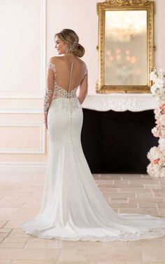 6607 Wedding Dress with Chic Off-the-Shoulder Sleeves by Stella York