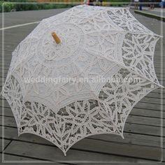 Promoción de novia de encaje parasol y ventilador de encaje decoración de la…