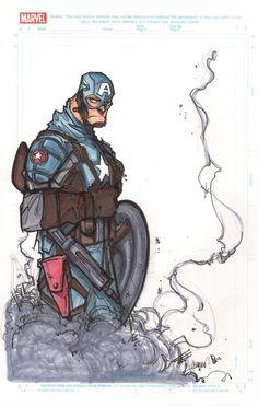 Francisco Herrera: Captain America:The First Avenger  Comic Art