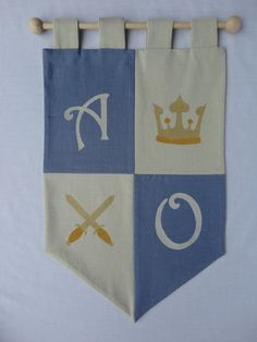 Personalised knights banner for children.