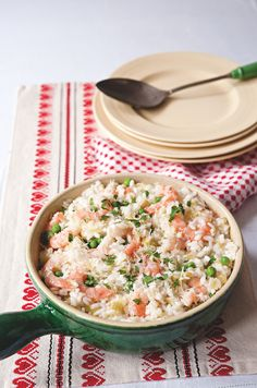 Oven baked leek and prawn risotto