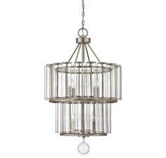 Savoy House Today's Classic Style Belmont Distressed Silver Leaf Seven-Light Wide Chandelier Simple Chandelier, Ceiling Fan Chandelier, Chandelier Shades, Chandeliers, Home Ceiling, Home Lighting, Kitchen Lighting, Light Fixtures, Modern