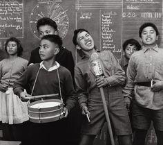 Students performing, Whatatutu primary school, near Wairoa, New Zealand, Ans Westra.