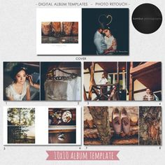 PSD 10X10 (40 pages), Wedding  Album template, (Classic Layout),  21 spread  and a cover - AL6(2)