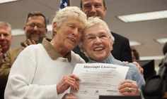 #Love Jane Lighty, left, and Pete-e Petersen received the first gay marriage license in Washington State. - NYTimes.com