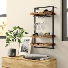 New Orla 9 Bottle Wall Mounted Wine Bottle and Glass Rack by Williston Forge Home Decor Furniture. offers on top store Wine Bottle Rack, Wine Glass Rack, Bottle Wall, Wine Rack Wall, Wine Bottle Storage, Wall Mounted Wine Racks, Bottle Bottle, Wall Racks, Bottle Stoppers