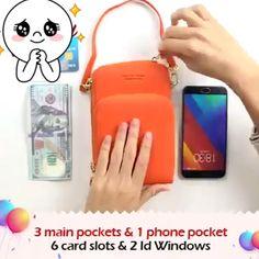 Fashion Large Capacity Mini Women's Wallet – Purses And Handbags Diy Cute Wallets, Diy Handbag, Zipper Bags, Fashion Bags, Womens Fashion, Fashion Trends, Wallets For Women, Purse Wallet, Things To Buy