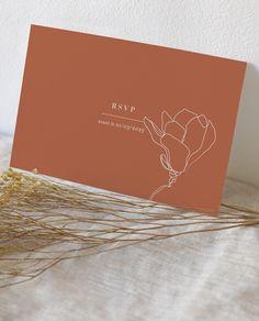 Wedding Stationery, Wedding Invitations, Branding Design, Logo Design, Name Card Design, Typographic Logo, Terracota, Grafik Design, E Design