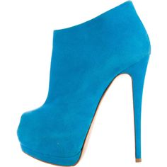 Pre-owned Giuseppe Zanotti Peep-Toe Platform Booties ($330) ❤ liked on Polyvore featuring shoes, boots, ankle booties, blue, peep-toe boots, blue boots, zipper boots, blue platform booties and blue suede booties