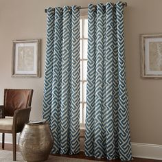 Keyes Window Curtain Panel - BedBathandBeyond.com