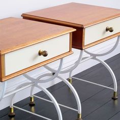 Teak, steel & brass bedsides...if you're looking for something a little different in the bedroom!!