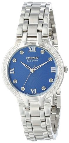 Citizen Eco-Drive Women's Stainless Steel Bella with Diamond Accents Watch -- Details can be found by clicking on the image.