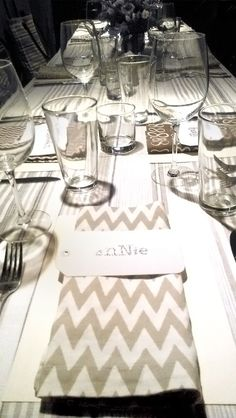 We set our @Alt Summit dinner in Salt Lake City with new @Pine Cone Hill table linens
