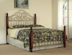 Home Styles St. Ives King Bed, Beige & Tan
