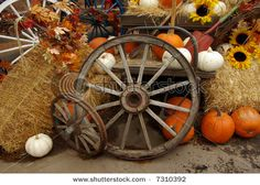 Find Harvest Scene Wagon Wheels Hay Bales stock images in HD and millions of other royalty-free stock photos, illustrations and vectors in the Shutterstock collection. Thousands of new, high-quality pictures added every day. Fall Harvest Decorations, Fall Wedding Decorations, Wedding Ideas, Farm Wedding, Rustic Wedding, Fall Yard Decor, Fall Background, Free Stock, Autumn Decorating
