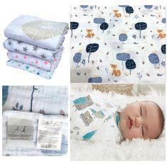 Bébé Mousseline Swaddle Blanket Newborn Baby Wrap Couverture 4 couche bambou été pour